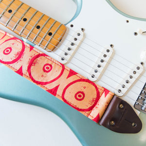 Silkscreen Guitar Strap in Uvita