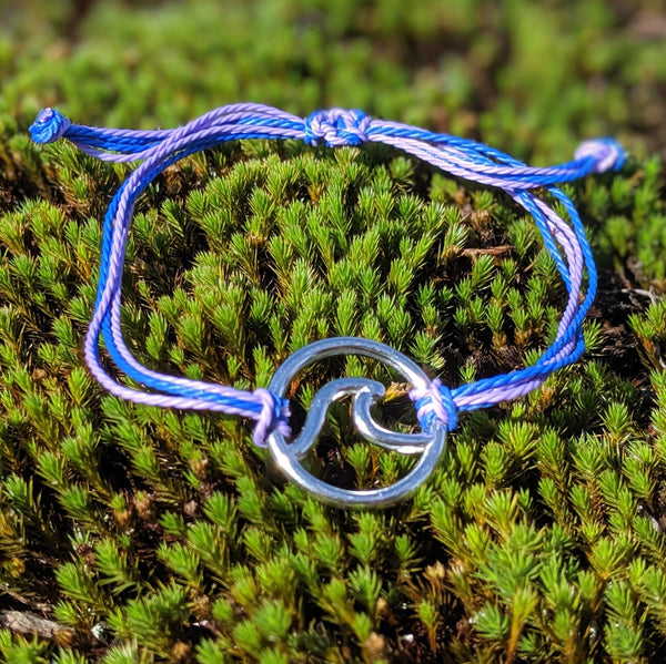 The Wave Collection Bracelet in Purple and Blue