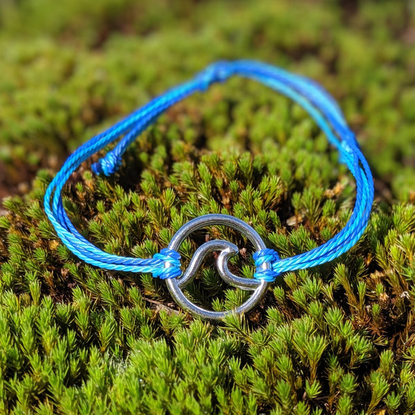 The Wave Collection Bracelet in Light and Dark Blue