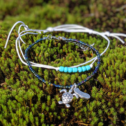 Off the Coast Turtle Bracelet Duo