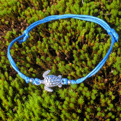 Blue Turtle String Bracelet
