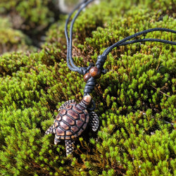 Brown Turtle Necklace
