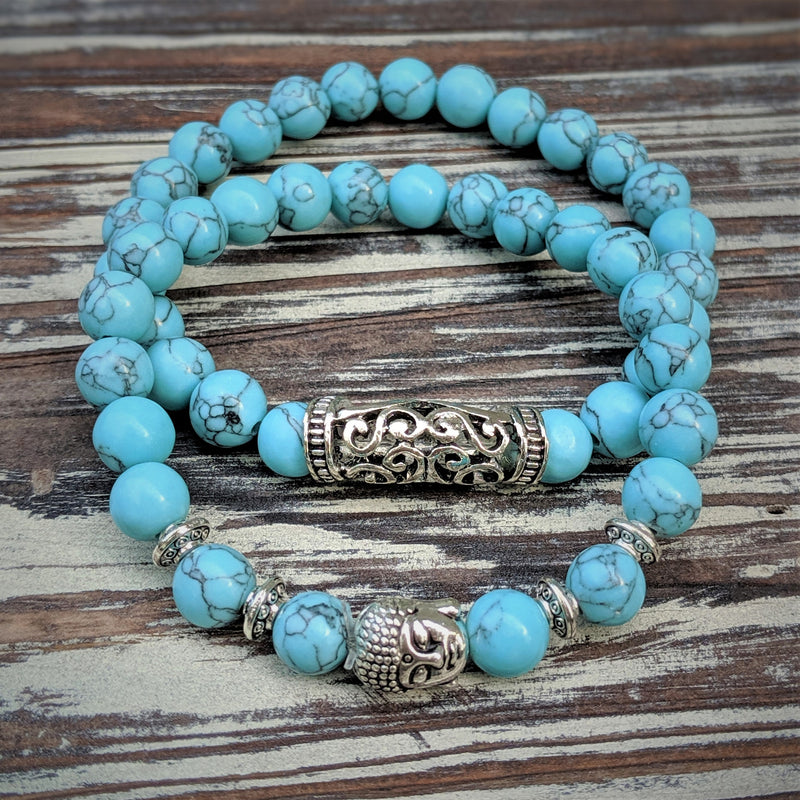 Buddha Head Bracelet Set