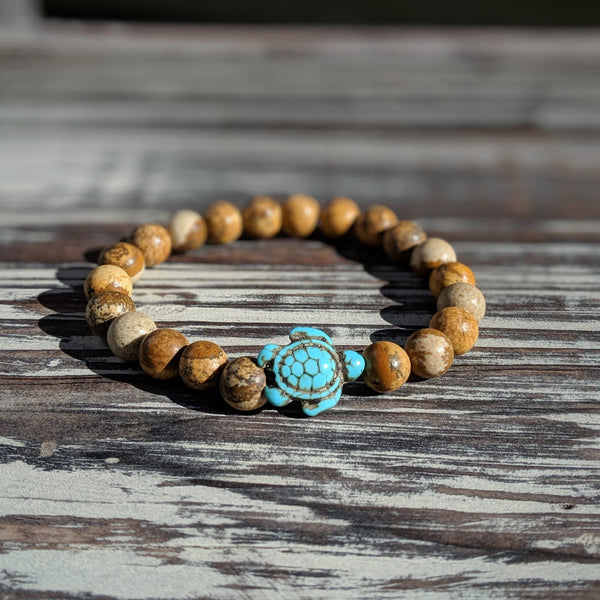 Brown Jasper Turtle Bracelet