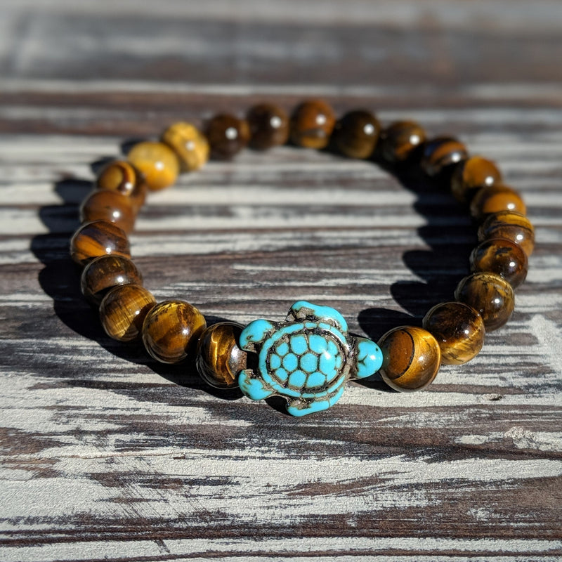 Tiger's Eye Turtle Bracelet