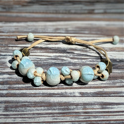 Sea Dreams Ceramic Glass Bracelet