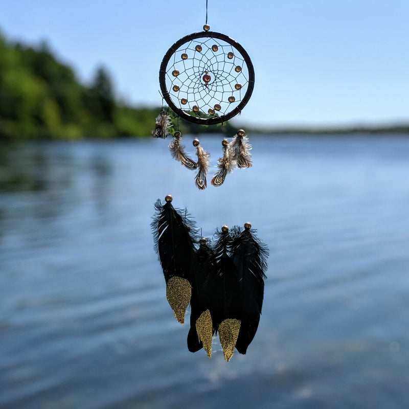 Petite Gold and Black Dream Catcher