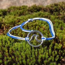 The Wave Collection Bracelet in Blue and White