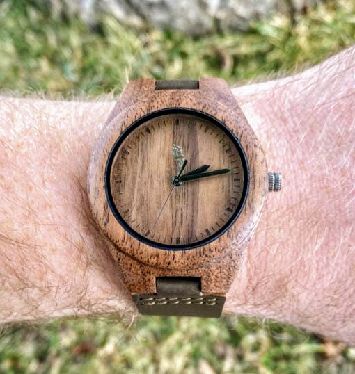 Walnut Watch with Leather Strap