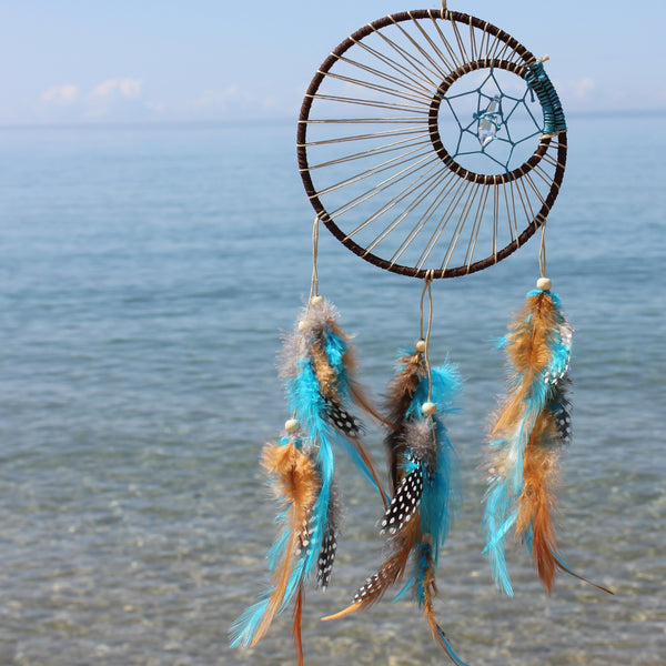 Sky and Crystal Dream Catcher