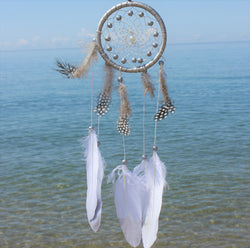 Petite Silver Pearl Dream Catcher