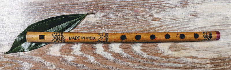 Authentic Wood Carved Flute From India