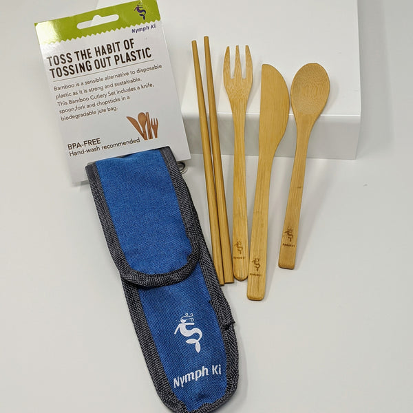 Travel Bamboo Eco Friendly Cutlery Set