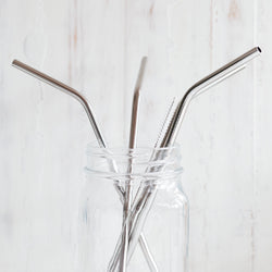 Stainless Steel Reusable Drinking Straw Set