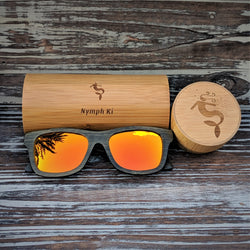 Orange Lens Polarized Dark Bamboo Sunglasses
