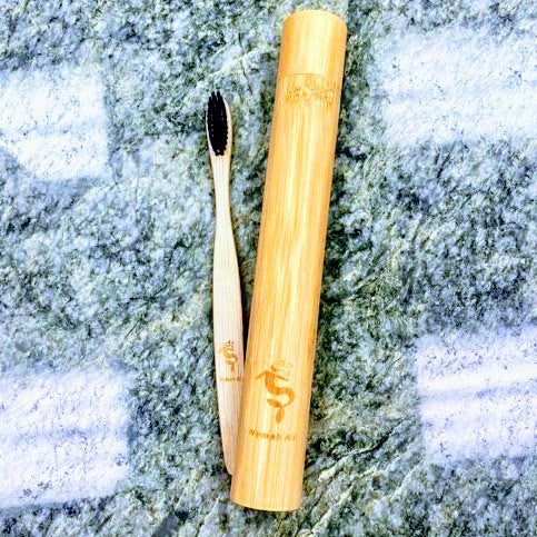 Natural Bamboo Eco Friendly Toothbrush in Case