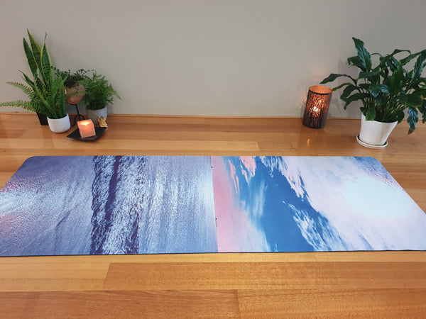 Luxury Eco Yoga Mat - Western Sunset