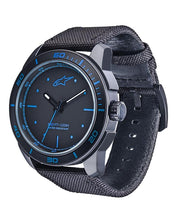 ALPINESTARS TECH WATCH 3 HANDS BLACK -  BLUE ACCENT - POLY FABRIC STRAP