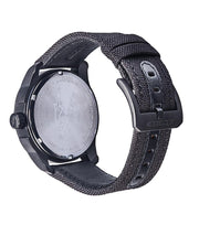 ALPINESTARS TECH WATCH 3 HANDS HERITAGE MATT BLACK CASE WITH LEATHER STRAP BROWN + ADDITIONAL BLACK POLY FABRIC STRAP STAP - BLACK BUCKLE