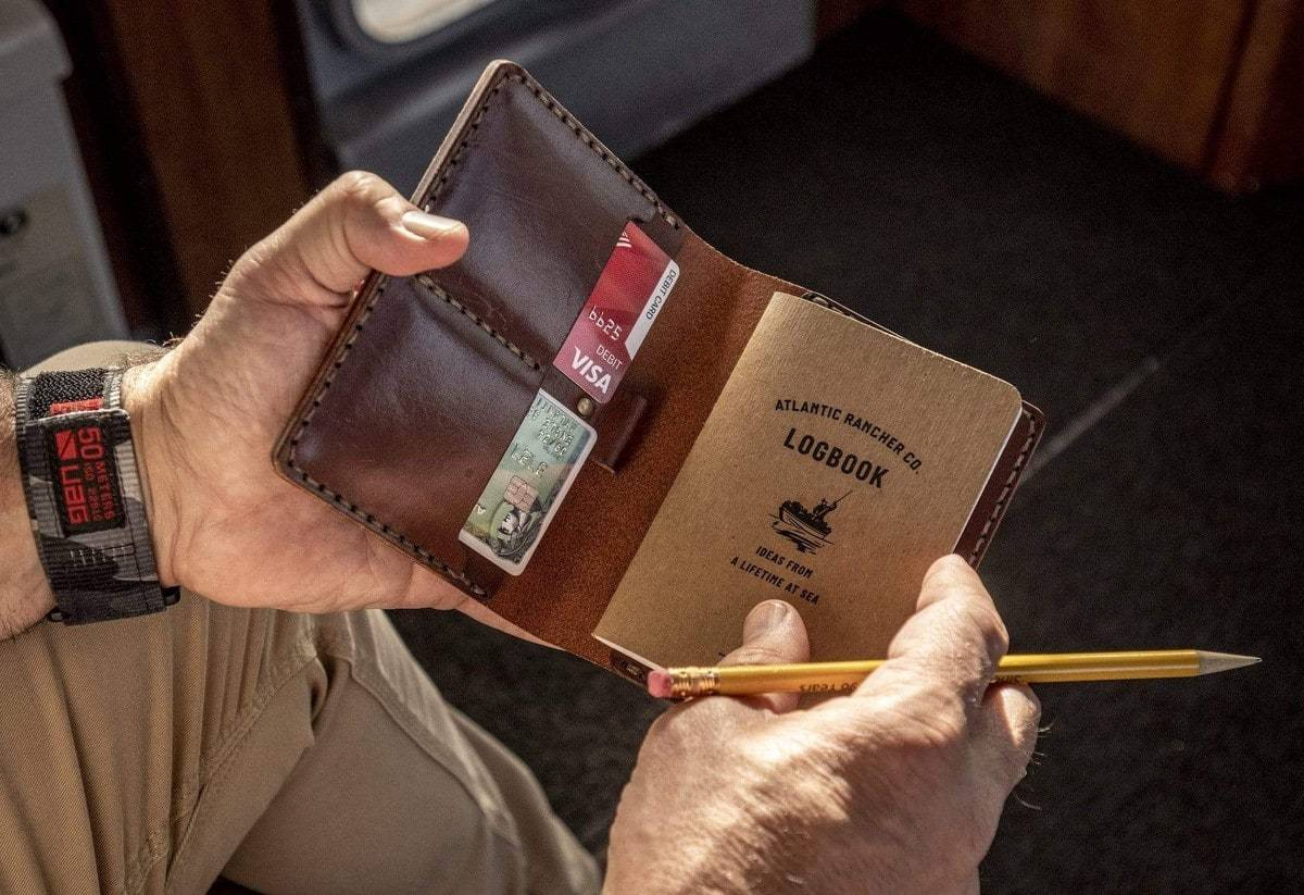 Buy The AR Leather Passport Case