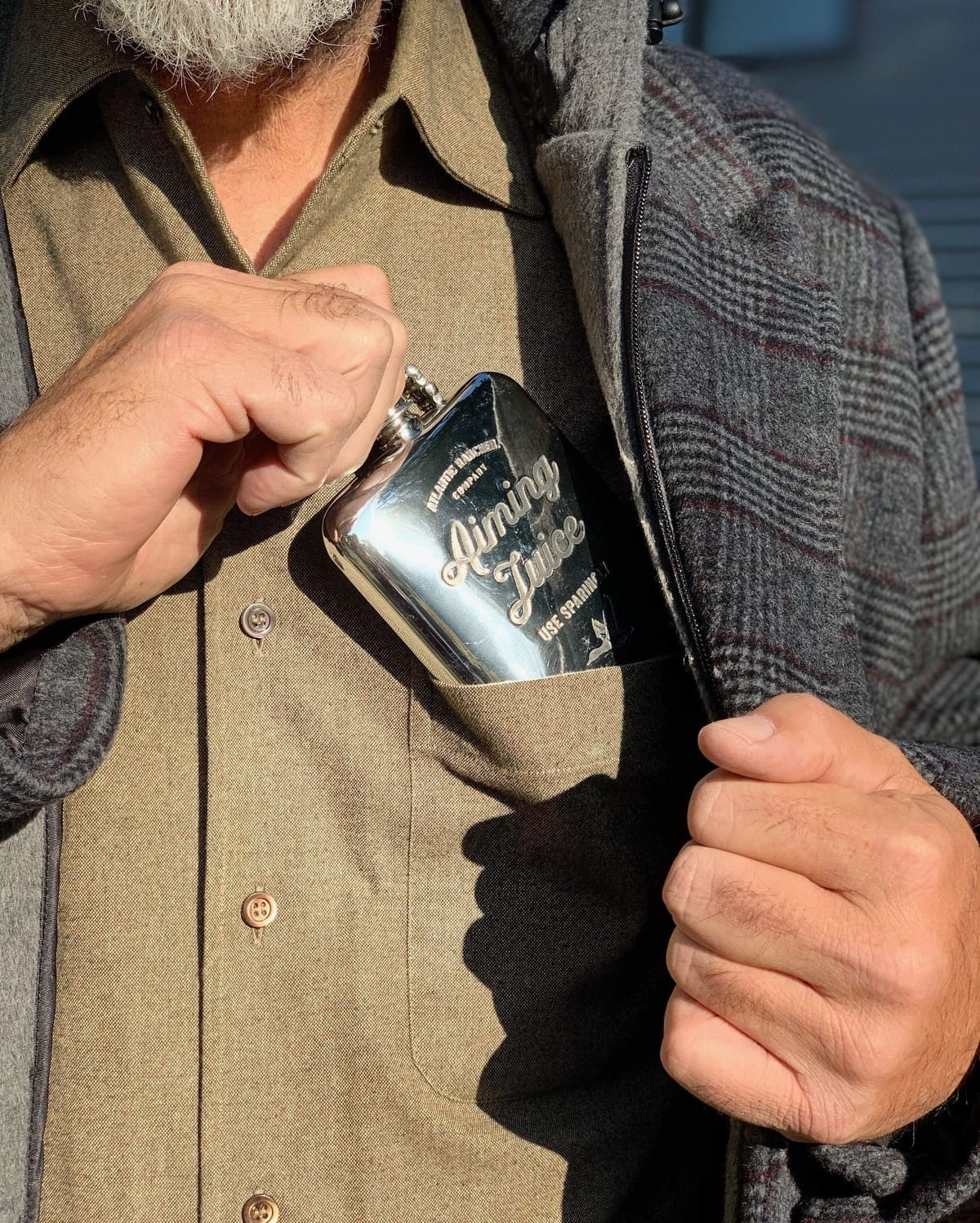 Buy The AR Pewter Flask - Aiming Juice - Bobwhite Quail