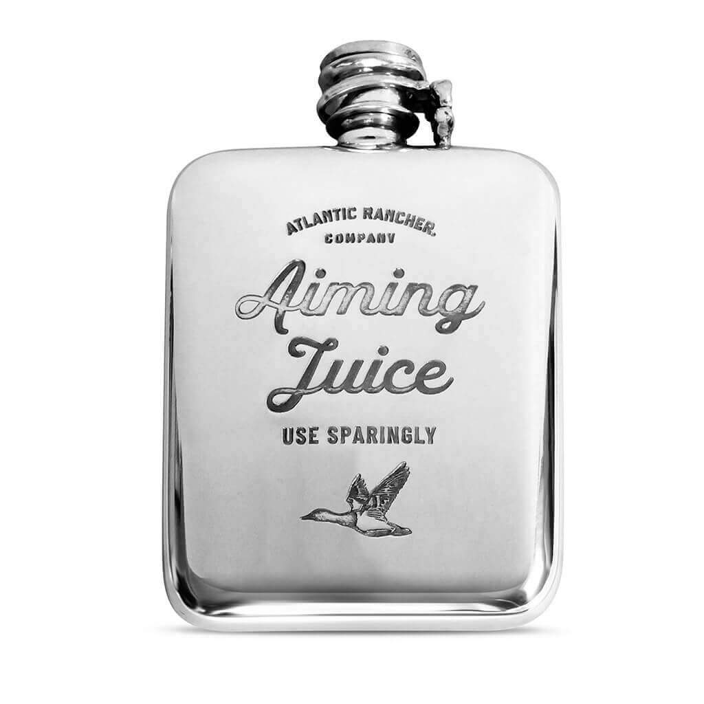 Buy The AR Pewter Flask - Aiming Juice - Canvasback Duck