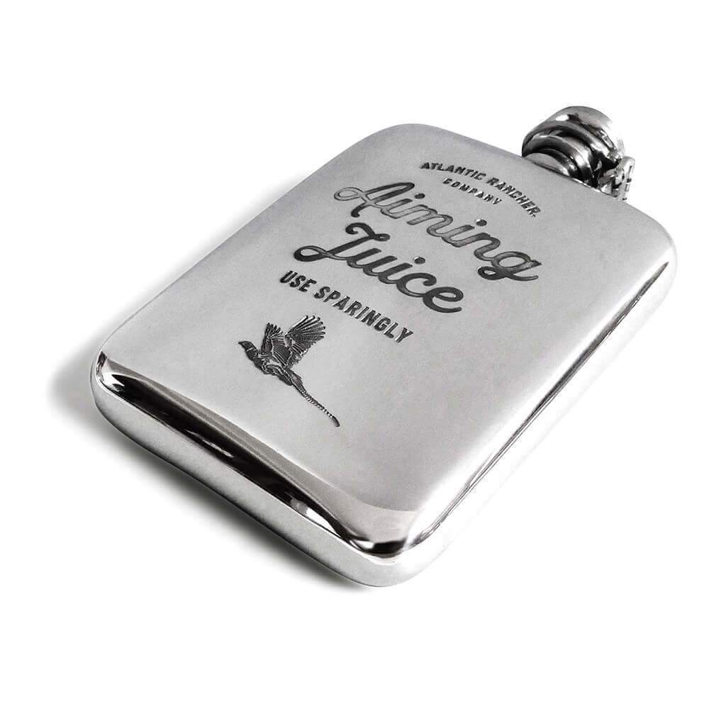 Buy The AR Pewter Flask - Aiming Juice - Pheasant