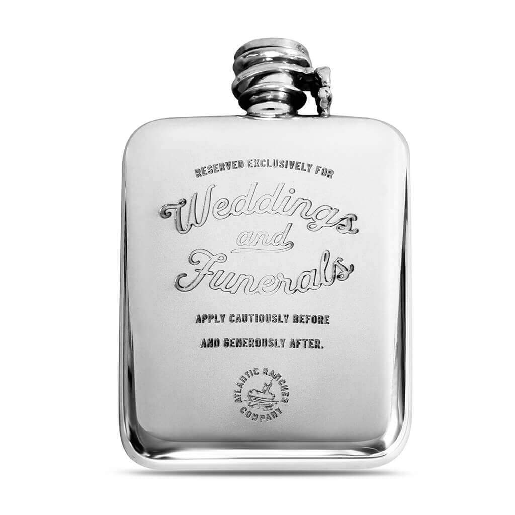 Buy The AR Pewter Flask- Weddings & Funerals