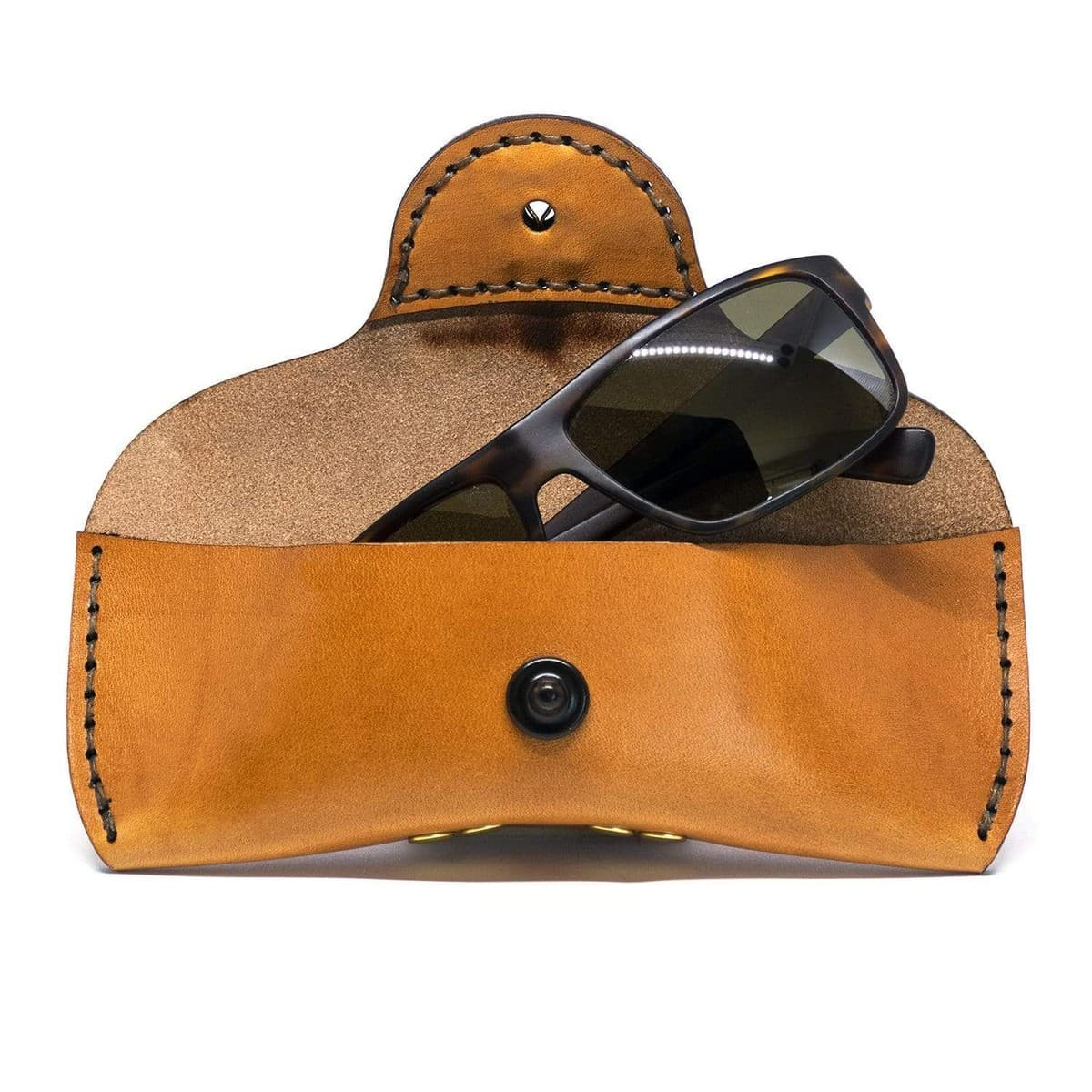 Buy The Atlantic Rancher Leather Eyeglass Case - Crush-proof!