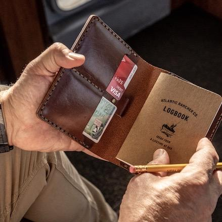 Atlantic Rancher Leather Logbook Case