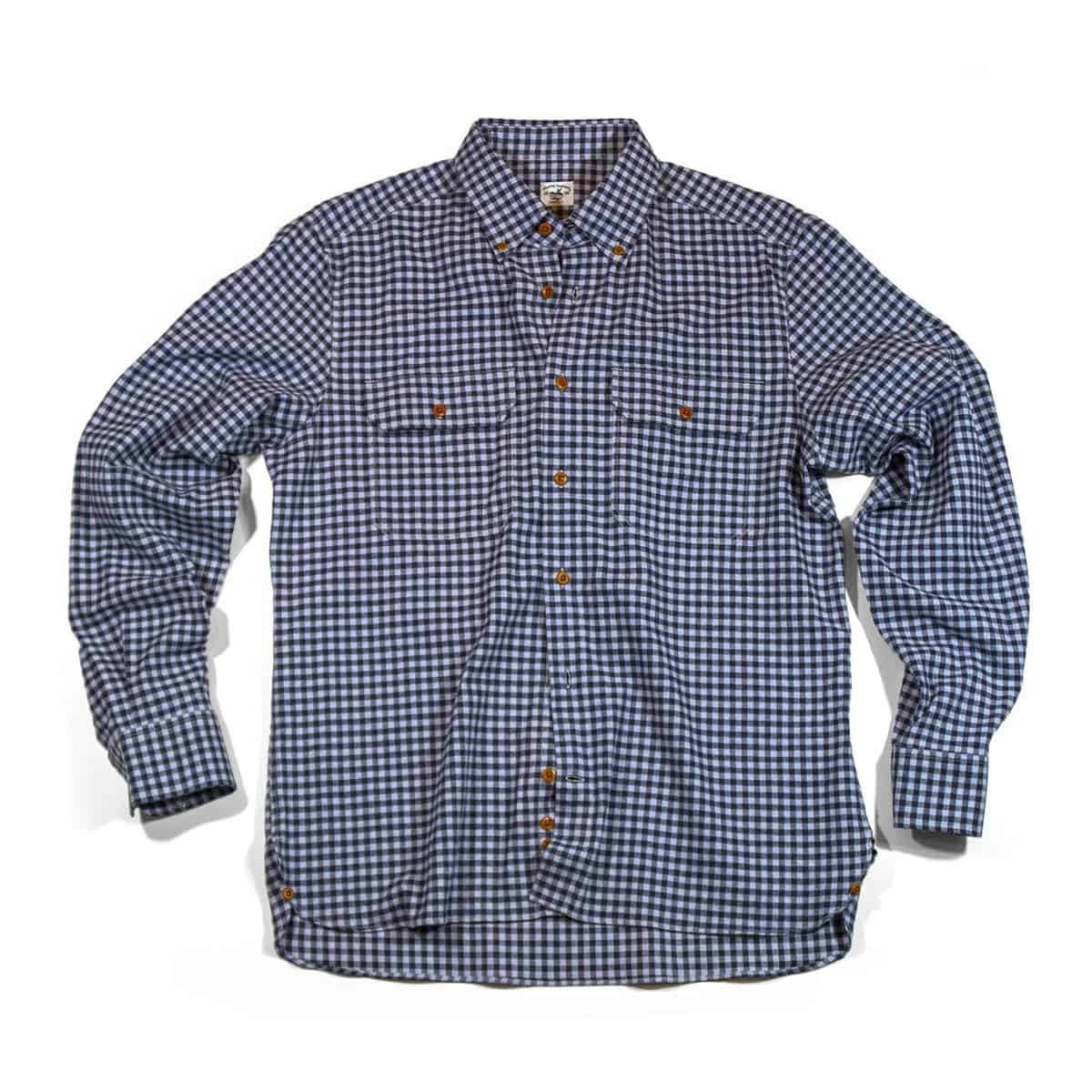 Buy The Bayman's Flannel Button-Down Collar Shirt - Blue Check