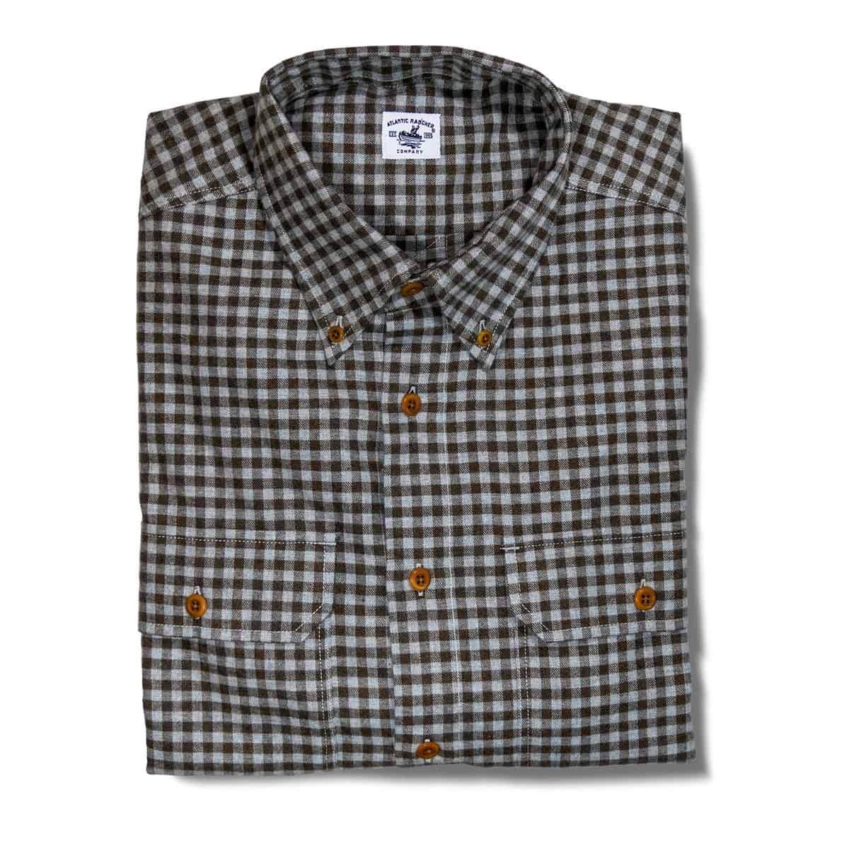 Buy The Bayman's Flannel Button-Down Collar Shirt - Brown Check