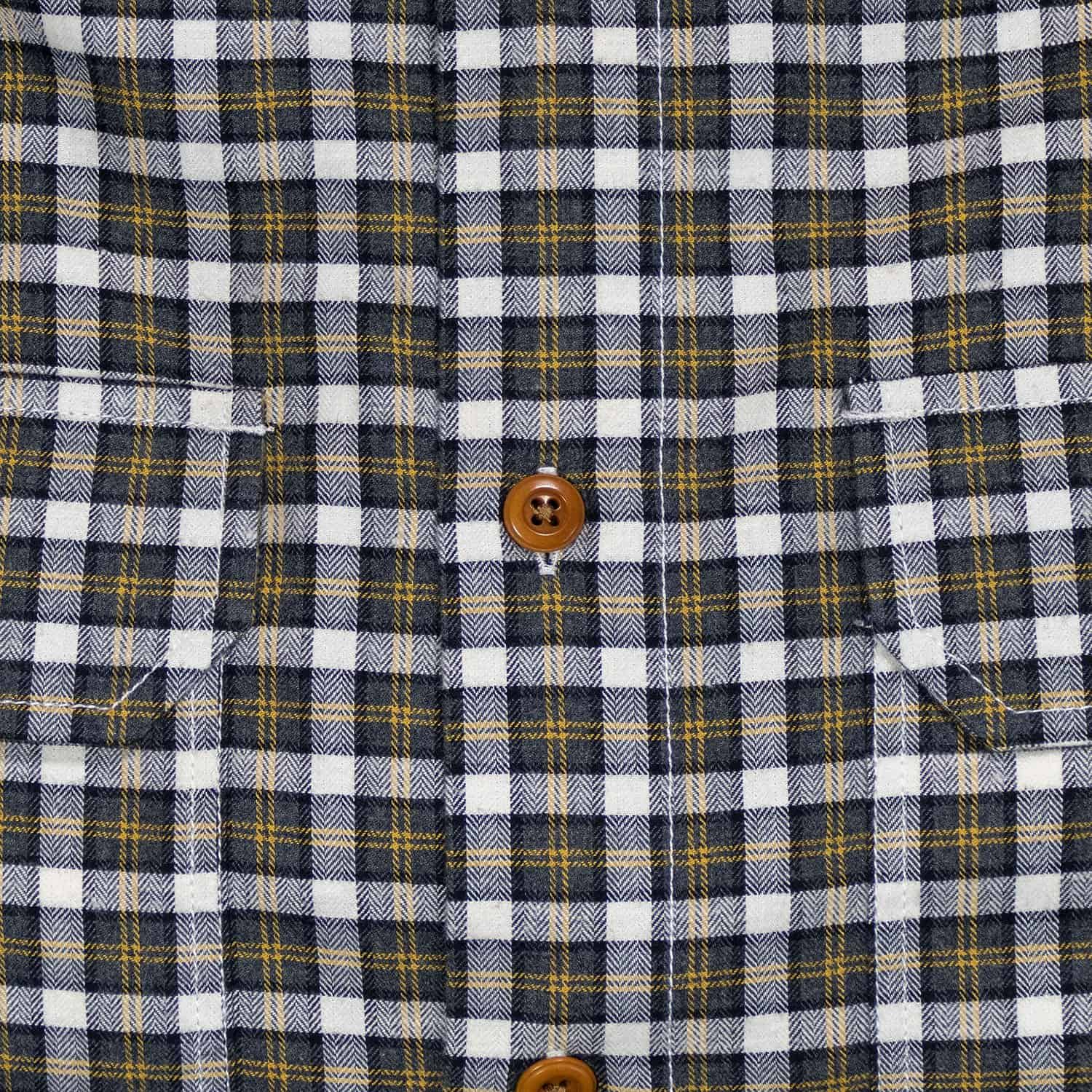 Buy The Bayman's Flannel Button-Down Collar Shirt - Yellow Tick