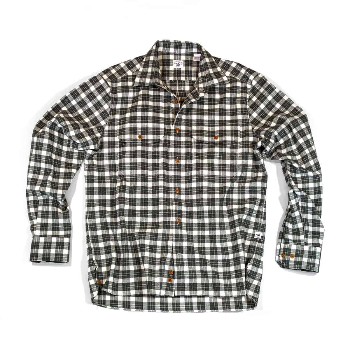 Buy The Bayman's Flannel Shirt - Brown/Evergreen tick