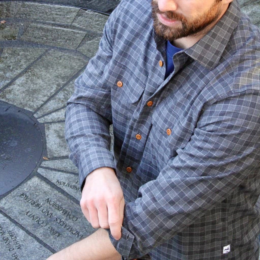 Buy The Bayman's Flannel Shirt - Charcoal