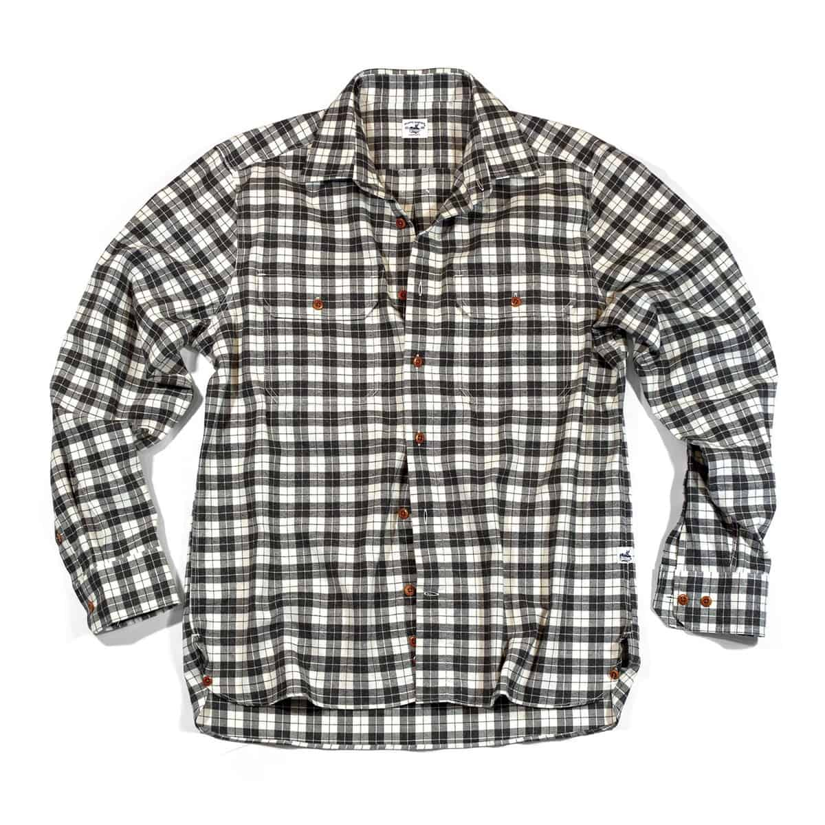 Buy The Bayman's Flannel Shirt - Cream/Charcoal