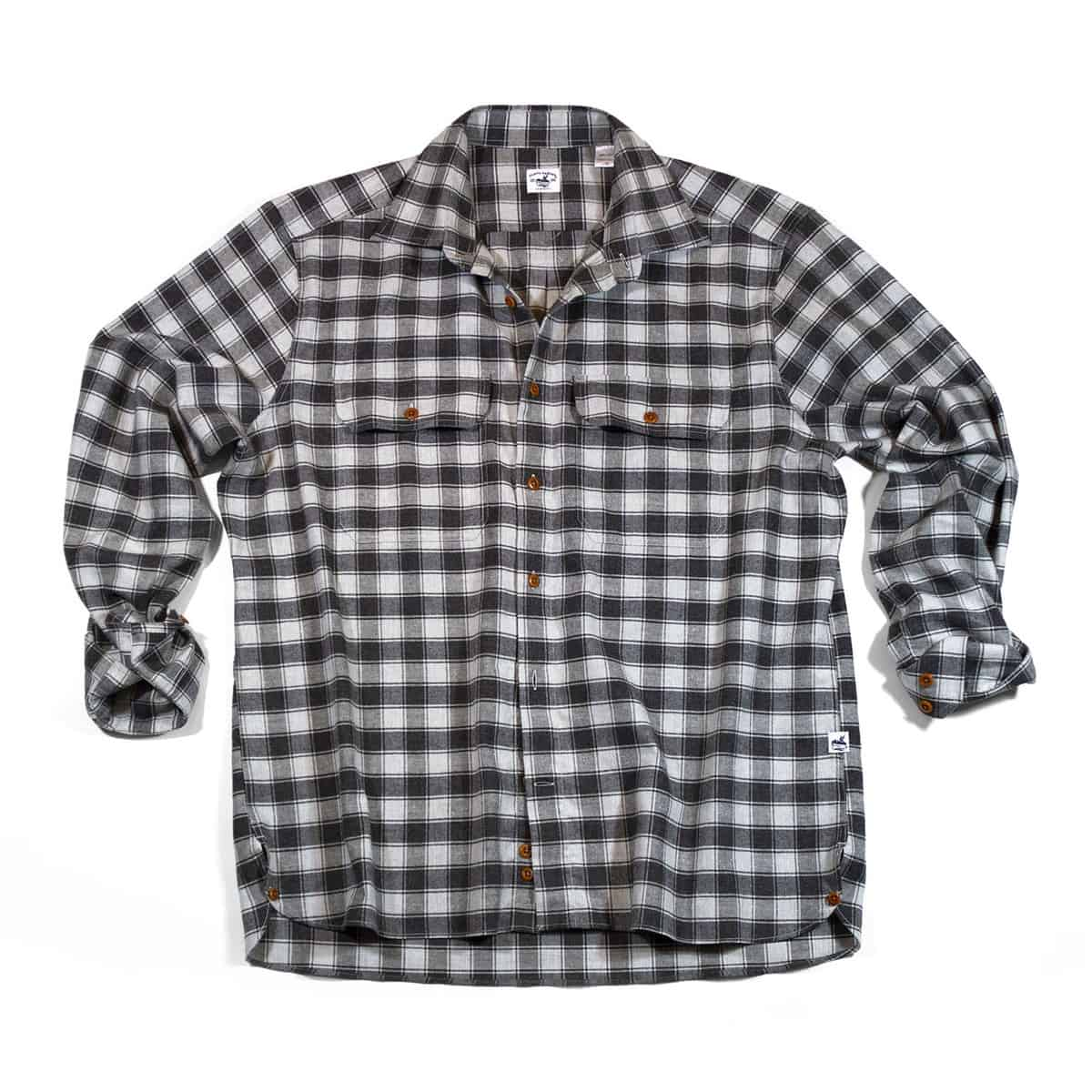 Buy The Bayman's Flannel Shirt - Light Charcoal
