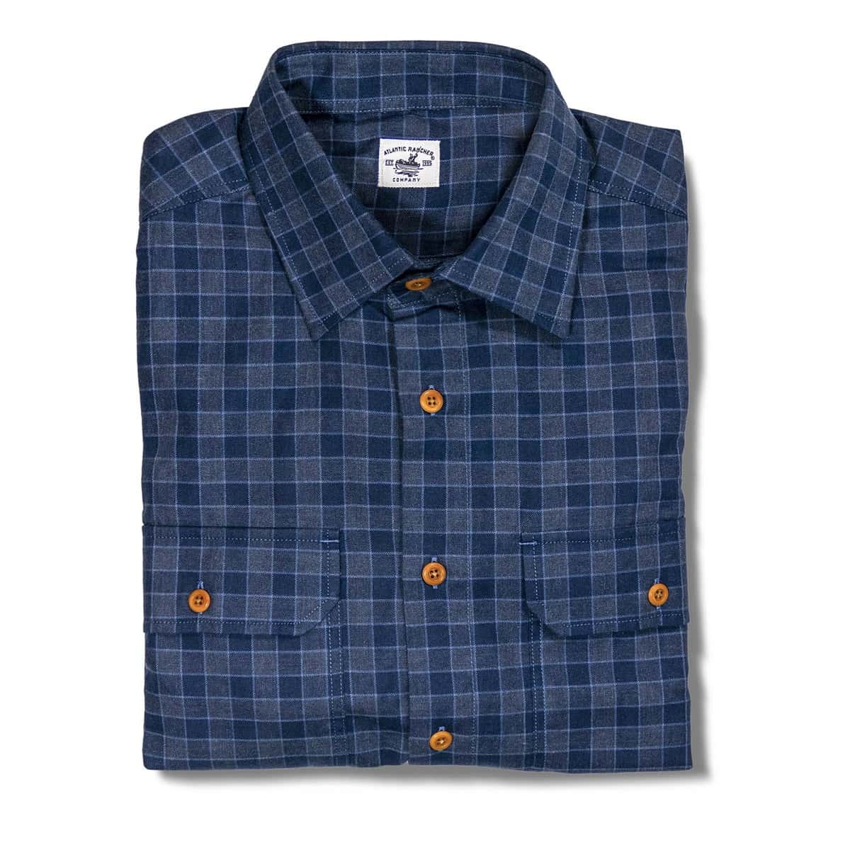 Buy The Bayman's Flannel Shirt - Navy / Charcoal
