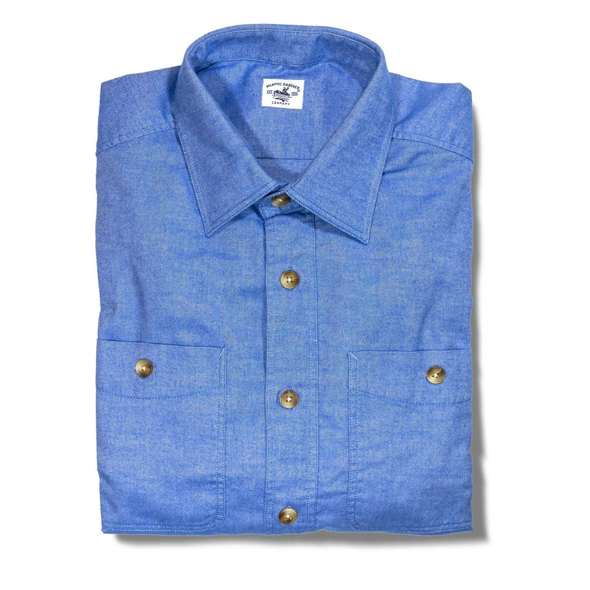 Buy The Saltwash Flannel Dock Shirt - Bimini Blue