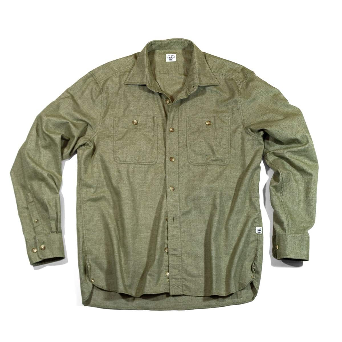 Buy The Saltwash Flannel Dock Shirt - Olive