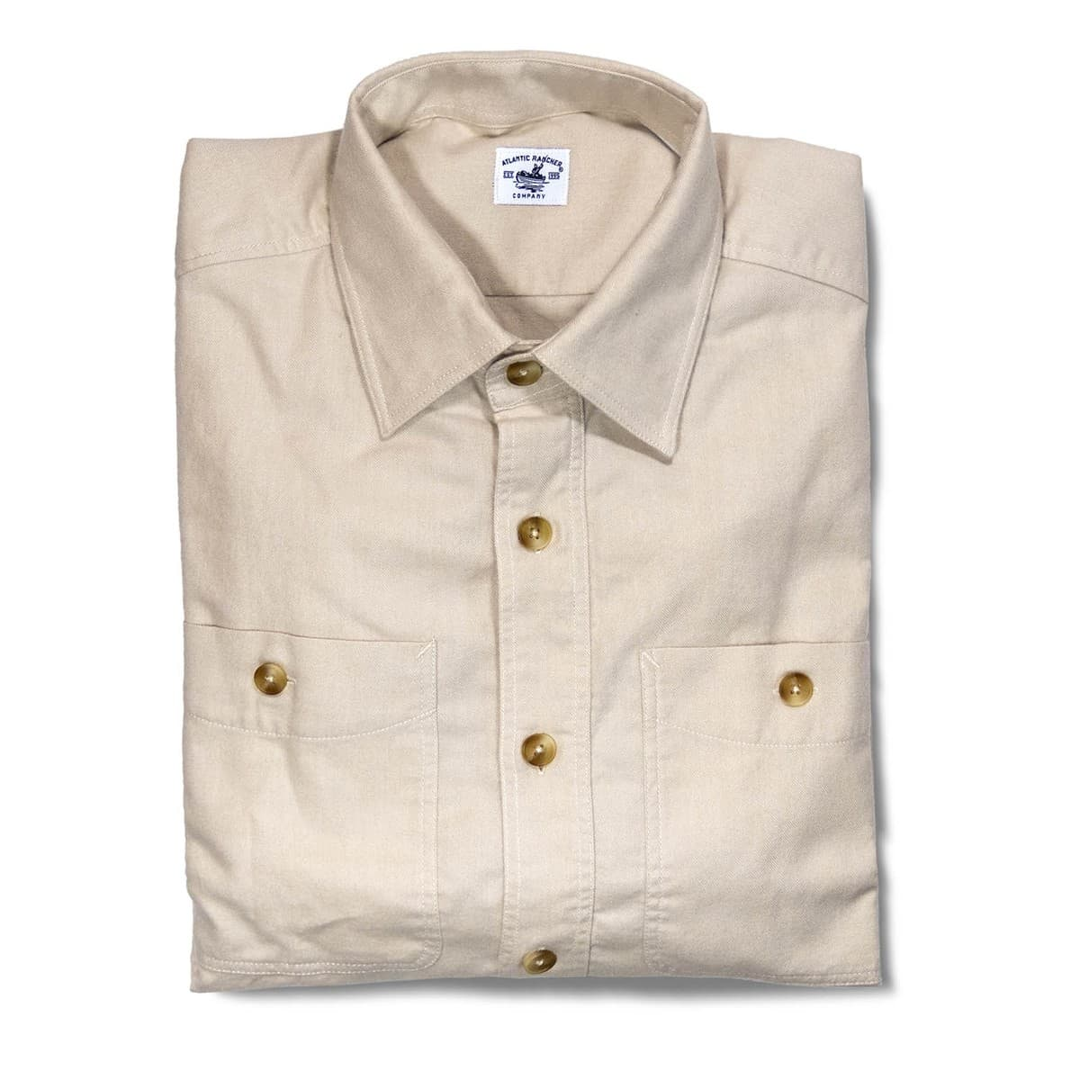 Buy The Saltwash Flannel Dock Shirt - Sand