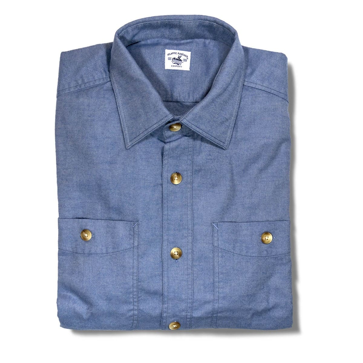 Buy The Saltwash Flannel Dock Shirt - Slate Blue