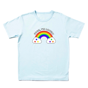 FUCK I'M LONELY RAINBOW TEE
