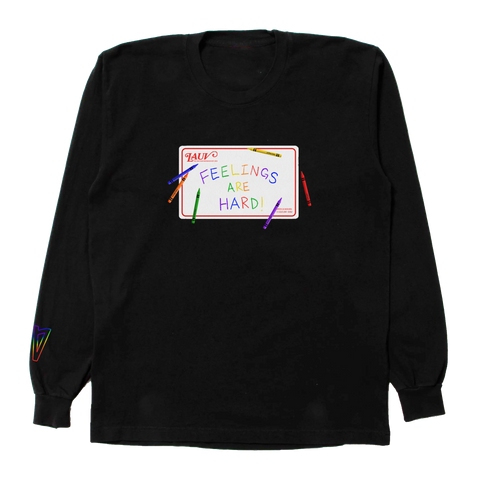FEELINGS ARE HARD! CRAYON LS TEE