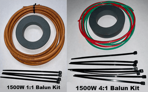 1500 W Hybrid Balun Kit – 1:1 Balun plus 4:1 Guanella Balun for OCF antennas