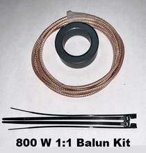 Load image into Gallery viewer, 800 W Hybrid Balun Kit – 1:1 Balun plus 4:1 Guanella Balun for OCF antennas