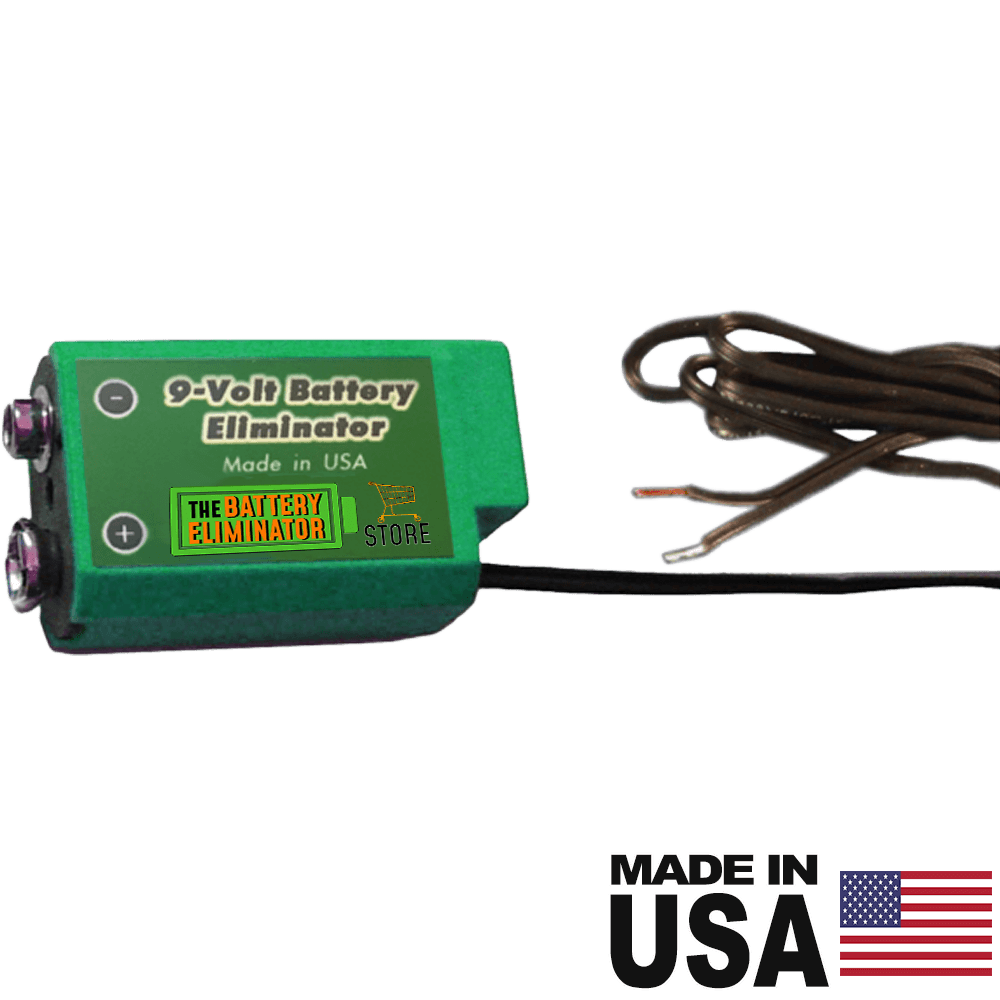 9 Volt Wired/Active Cell - (provides positive and negative terminal access) - Battery Eliminator Store - battery replacement, aa battery to ac power, aaa to ac power, dc power, battery to usb, 9 volt battery to ac power, ac power adapter, 2 aa to ac power, 4 aa to ac power, 3 aaa to ac power, 9v to ac power, ac power supply adapter, cr123a, dummy cell, active cell, battery eliminator, replace battery, eliminate battery, remove battery, convert aa to ac power, 6 aa battery, 2 aa battery, 4 aa bat