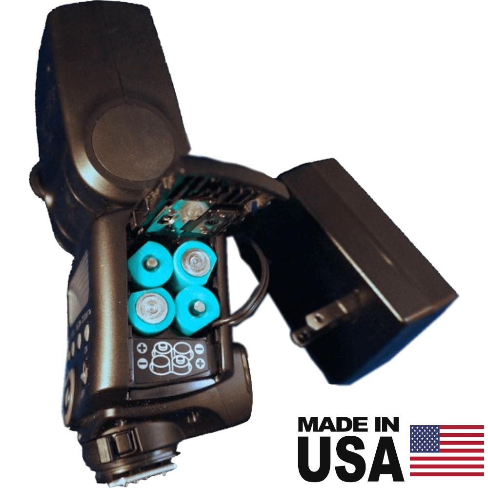 4 AA Battery Eliminator, Speedlight Photography Flash - AC Powered (worldwide compatible) - Battery Eliminator Store - Battery Replacement, aa battery to ac power, aaa to ac power, dc power, battery to usb, 9 volt battery to ac power, ac power adapter, 2 aa to ac power, 4 aa to ac power, 3 aaa to ac power, 9v to ac power, ac power supply adapter, cr123a, dummy cell, active cell, battery eliminator, replace battery, eliminate battery, remove battery, convert aa to ac power, 6 aa battery, 2 aa bat