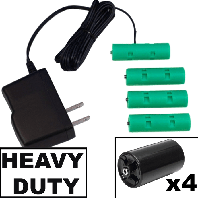 4 D or 4 AA Cells, 6VDC - AC Power - D/AA Eliminator - Battery Replacement - Battery Eliminator Store - aa battery eliminator, battery eliminator store, 9 volt battery eliminator, d cell battery eliminator, 9v battery eliminator, aaa battery eliminator, usb battery eliminator, replace 4 aa batteries with ac adapter, d battery eliminator, dummy aa battery with leads, aa battery eliminator power adapter, 9 volt battery adapter  Edit alt text