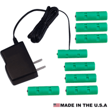 Load image into Gallery viewer, 8 AA Cells, 12VDC - AC Source - Battery Eliminator - Battery Replacement - Battery Eliminator Store - aa battery eliminator, battery eliminator store, 9 volt battery eliminator, d cell battery eliminator, 9v battery eliminator, aaa battery eliminator, usb battery eliminator, replace 4 aa batteries with ac adapter, d battery eliminator, dummy aa battery with leads, aa battery eliminator power adapter, 9 volt battery adapter